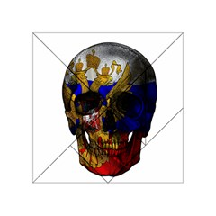 Russian Flag Skull Acrylic Tangram Puzzle (4  X 4 ) by Valentinaart