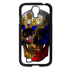 Russian Flag Skull Samsung Galaxy S4 I9500/ I9505 Case (black) by Valentinaart