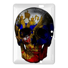 Russian Flag Skull Kindle Fire Hdx 8 9  Hardshell Case by Valentinaart