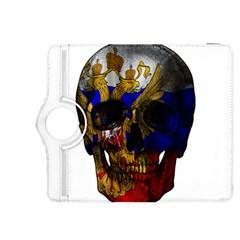 Russian Flag Skull Kindle Fire Hdx 8 9  Flip 360 Case by Valentinaart