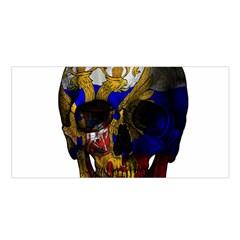 Russian Flag Skull Satin Shawl by Valentinaart