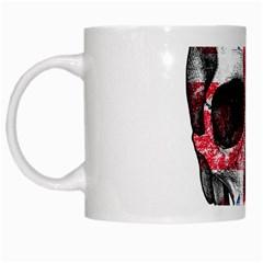 Uk Flag Skull White Mugs by Valentinaart