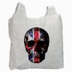Uk Flag Skull Recycle Bag (one Side) by Valentinaart