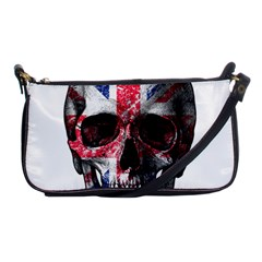 Uk Flag Skull Shoulder Clutch Bags by Valentinaart