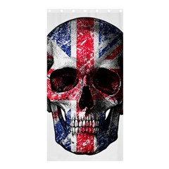 Uk Flag Skull Shower Curtain 36  X 72  (stall)  by Valentinaart