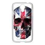 UK flag skull Samsung GALAXY S4 I9500/ I9505 Case (White) Front