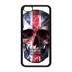 Uk Flag Skull Apple Iphone 5c Seamless Case (black) by Valentinaart