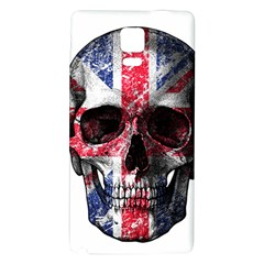 Uk Flag Skull Galaxy Note 4 Back Case by Valentinaart