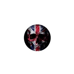 Uk Flag Skull 1  Mini Magnets by Valentinaart