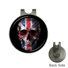 Uk Flag Skull Hat Clips With Golf Markers by Valentinaart