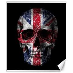 Uk Flag Skull Canvas 20  X 24   by Valentinaart