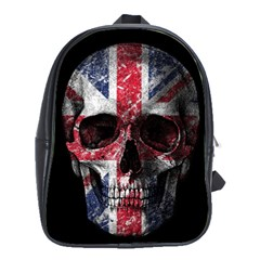 Uk Flag Skull School Bags(large)  by Valentinaart