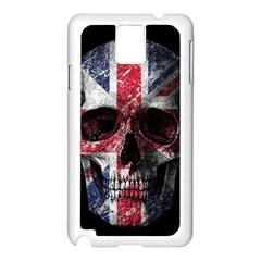 Uk Flag Skull Samsung Galaxy Note 3 N9005 Case (white) by Valentinaart