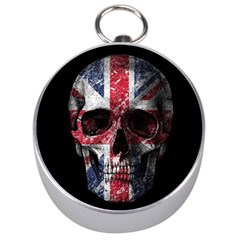 Uk Flag Skull Silver Compasses by Valentinaart