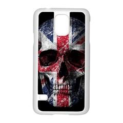 Uk Flag Skull Samsung Galaxy S5 Case (white) by Valentinaart