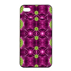 Lillie Of The Valley And Metal Apple Iphone 4/4s Seamless Case (black) by pepitasart