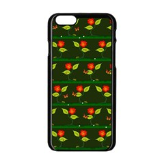 Plants And Flowers Apple Iphone 6/6s Black Enamel Case by linceazul