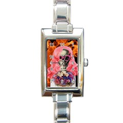 Bride From Hell Rectangle Italian Charm Watch by Valentinaart