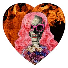Bride From Hell Jigsaw Puzzle (heart) by Valentinaart