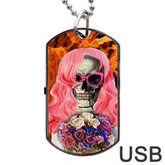 Bride From Hell Dog Tag Usb Flash (two Sides) by Valentinaart