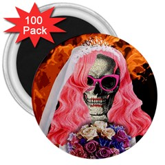 Bride From Hell 3  Magnets (100 Pack) by Valentinaart