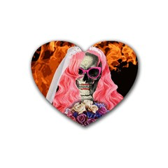 Bride From Hell Heart Coaster (4 Pack)  by Valentinaart