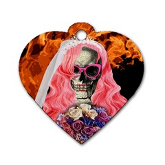Bride From Hell Dog Tag Heart (one Side) by Valentinaart