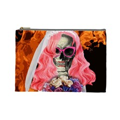 Bride From Hell Cosmetic Bag (large)  by Valentinaart