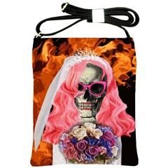 Bride From Hell Shoulder Sling Bags by Valentinaart