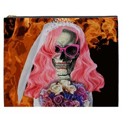 Bride From Hell Cosmetic Bag (xxxl)  by Valentinaart