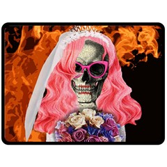 Bride From Hell Double Sided Fleece Blanket (large)  by Valentinaart