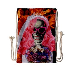 Bride From Hell Drawstring Bag (small) by Valentinaart