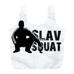 Slav Squat Full Print Recycle Bags (l)  by Valentinaart