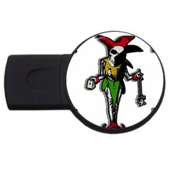 Joker  Usb Flash Drive Round (4 Gb) by Valentinaart