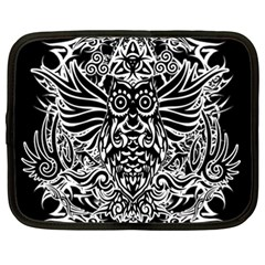 Tattoo Tribal Owl Netbook Case (xxl)  by Valentinaart