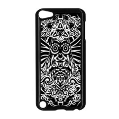 Tattoo Tribal Owl Apple Ipod Touch 5 Case (black) by Valentinaart