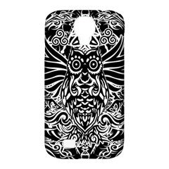 Tattoo Tribal Owl Samsung Galaxy S4 Classic Hardshell Case (pc+silicone) by Valentinaart