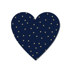 Navy/gold Stars Heart Magnet by Colorfulart23