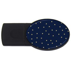 Navy/gold Stars Usb Flash Drive Oval (4 Gb) by Colorfulart23