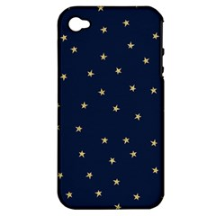 Navy/gold Stars Apple Iphone 4/4s Hardshell Case (pc+silicone) by Colorfulart23