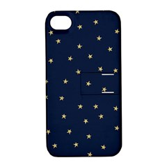 Navy/gold Stars Apple Iphone 4/4s Hardshell Case With Stand by Colorfulart23