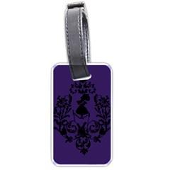 Umbrella Girl Luggage Tag (one Side) by mundanemagicco