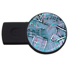 Another Modern Moment Aqua Usb Flash Drive Round (2 Gb) by MoreColorsinLife