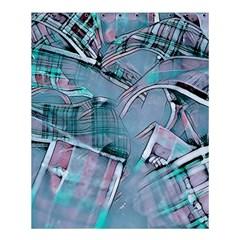 Another Modern Moment Aqua Shower Curtain 60  X 72  (medium)  by MoreColorsinLife