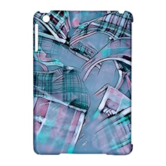Another Modern Moment Aqua Apple Ipad Mini Hardshell Case (compatible With Smart Cover) by MoreColorsinLife