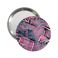 Another Modern Moment Pink 2 25  Handbag Mirrors by MoreColorsinLife