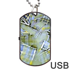 Another Modern Moment Yellow Dog Tag Usb Flash (two Sides)