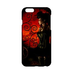 Steampunk, Wonderful Steampunk Lady In The Night Apple Iphone 6/6s Hardshell Case by FantasyWorld7