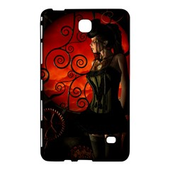 Steampunk, Wonderful Steampunk Lady In The Night Samsung Galaxy Tab 4 (8 ) Hardshell Case  by FantasyWorld7