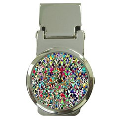 Psychedelic Background Money Clip Watches by Colorfulart23